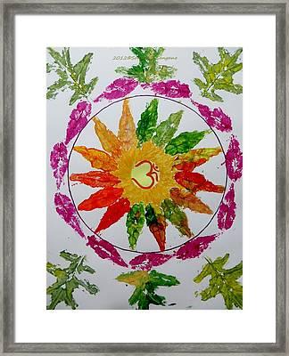 Autumn Chakra Framed Print by Sonali Gangane