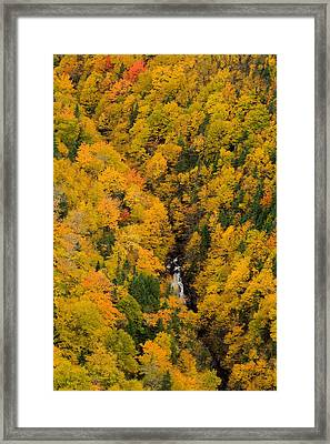 Autumn Colour And Waterfalls, Cape Framed Print by John Sylvester