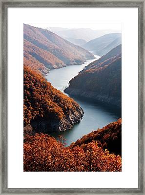 Autumn Creek Framed Print by Mavroudakis Fotis Photography