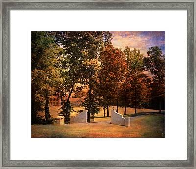 Autumn Gate Framed Print by Jai Johnson