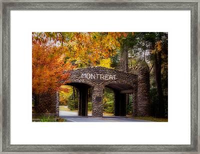 Autumn Gate Framed Print by Joye Ardyn Durham