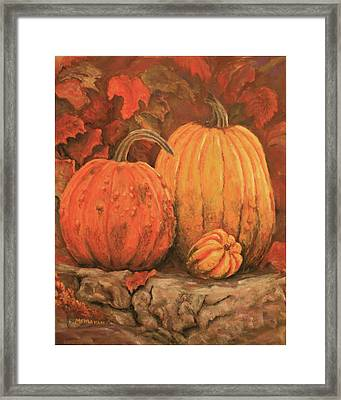 Autumn Harvest Framed Print by Peggy McMahan