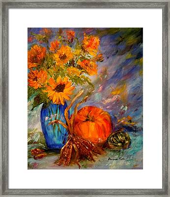 Autumn Impressions Framed Print by Barbara Pirkle