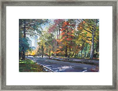 Autumn In Niagara Falls Park Framed Print by Ylli Haruni