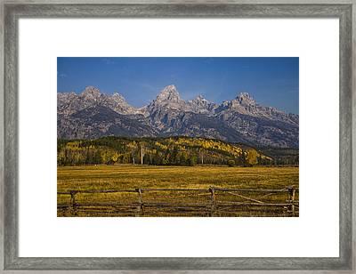 Autumn In The Tetons Framed Print by Andrew Soundarajan