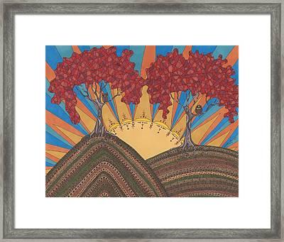 Autumn Joy Framed Print by Pamela Schiermeyer