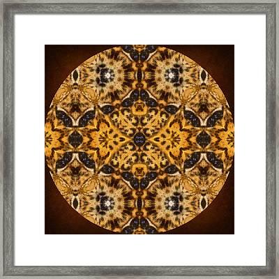 Autumn Mandala Framed Print by Georgiana Romanovna