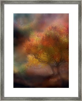 Autumn Mist Framed Print by Carol Cavalaris
