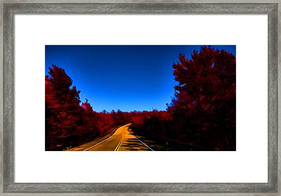 Autumn Red Framed Print by Douglas Barnard