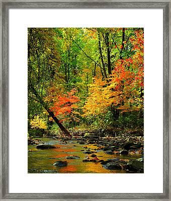 Autumn Reflects Framed Print by Frozen in Time Fine Art Photography