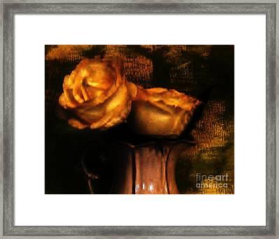 Autumn Roses Framed Print by Marsha Heiken