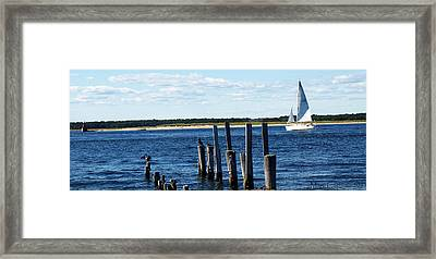 Autumn Sail Framed Print by Mary Capriole