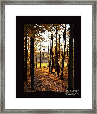 Autumn Sunrise-i Framed Print by Patricia Overmoyer