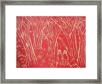 Autumn Walk Framed Print by Ward Smith