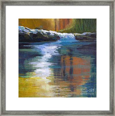 Autumnal Reflections Framed Print by Melody Cleary