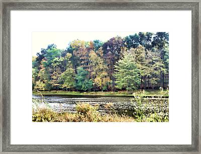 Autumn's Brush At The Red Ant Fort Framed Print by Christine Segalas