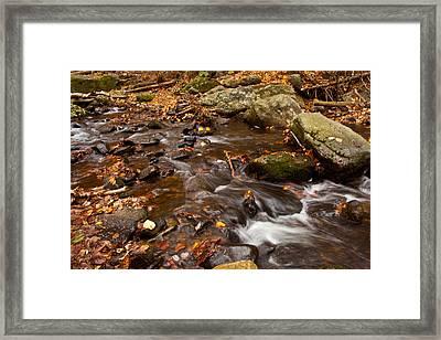Autumns Creek Framed Print by Karol Livote