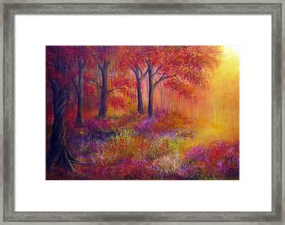 Autumn's Song Framed Print by Ann Marie Bone