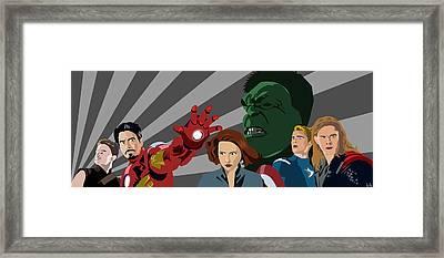Avengers Assemble Framed Print by Lisa Leeman