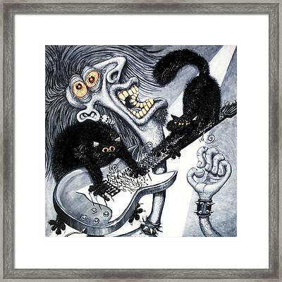 Axe And Violence Framed Print by Baron Dixon