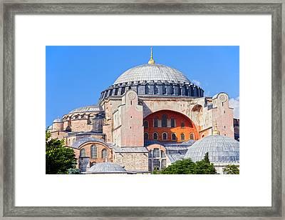 Ayasofya Byzantine Landmark Framed Print by Artur Bogacki