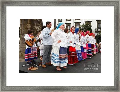 Azorean Folk Music Group Framed Print by Gaspar Avila