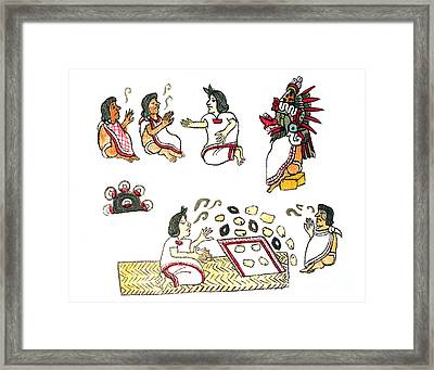 Aztec Medicine, Codex Magliabechiano Framed Print by Science Source