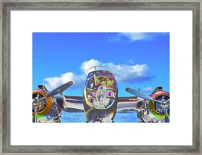 B-25j Jazzed Framed Print by Lynda Dawson-Youngclaus