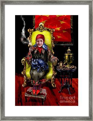 Baba Yaga Framed Print by Elinor Mavor