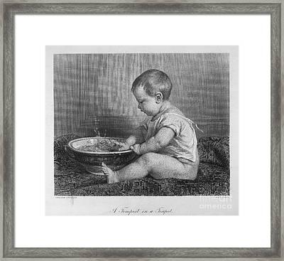Baby, 19th Century Framed Print by Granger
