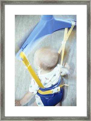 Baby Bouncer Framed Print by Cristina Pedrazzini
