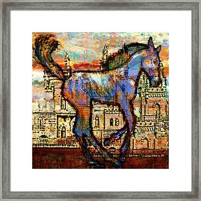 Baby Horse Of The Apocalypse Framed Print by Mary Ogle