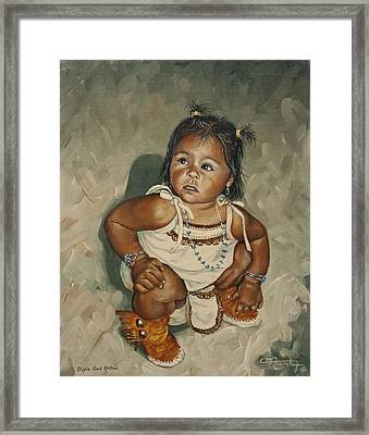 Baby Leah Framed Print by C Michael French