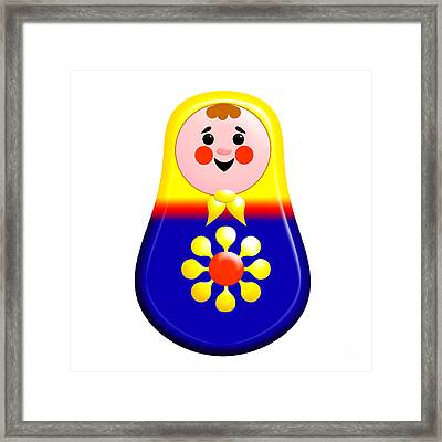 Baby Matrioshka Doll  Framed Print by Zaira Dzhaubaeva