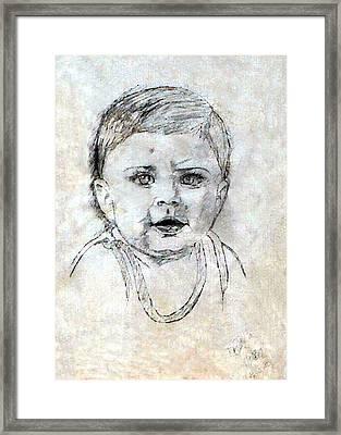 Baby Portrait  Framed Print by Madalena Lobao-Tello