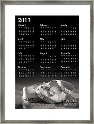Baby Shoes Calendar 2013 Framed Print by Jane Rix