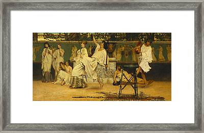 Bacchanal Framed Print by Sir Lawrence Alma-Tadema