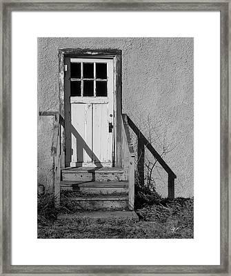 Back Door Framed Print by Vicki Pelham