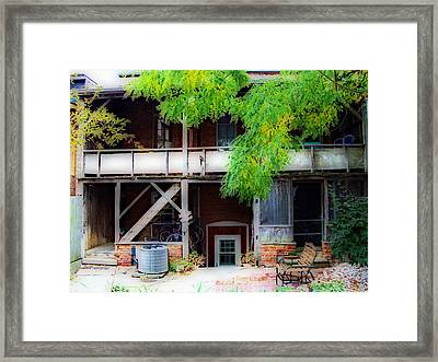 Back Of Main Street Framed Print by MJ Olsen