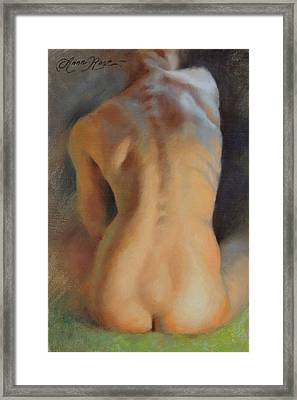 Back Study In Warm And Cool Framed Print by Anna Rose Bain
