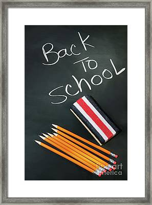 Back To School Acessories Framed Print by Sandra Cunningham