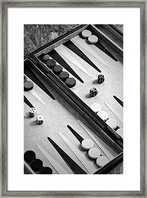 Backgammon Framed Print by Joana Kruse