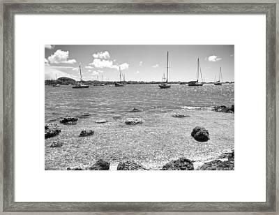 Background Sailboats Framed Print by Betsy C Knapp