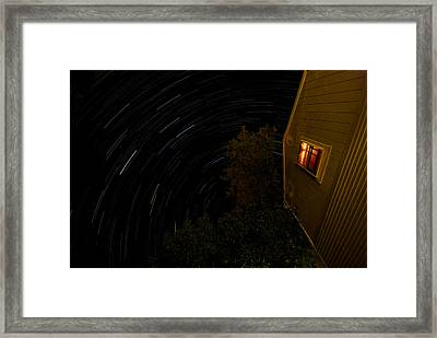 Backyard Star Trails Framed Print by Mike Horvath