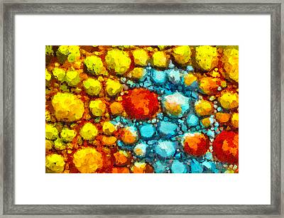 Bacteria 1 Framed Print by Angelina Vick