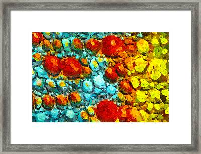 Bacteria 4 Framed Print by Angelina Vick