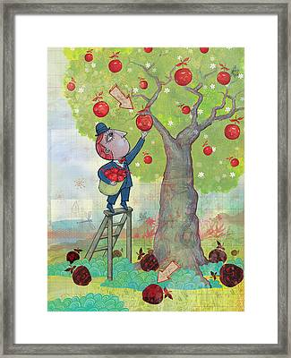 Bad Apples Good Apples Framed Print by Dennis Wunsch