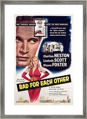 Bad For Each Other, Charlton Heston Framed Print by Everett