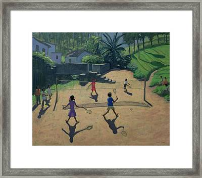 Badminton Framed Print by Andrew Macara