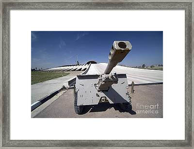 Baghdad, Iraq - An Iraqi Howitzer Sits Framed Print by Terry Moore